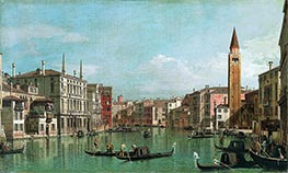 Canaletto | The Grand Canal, Venice, Looking Southeast, with the Campo della Carità to the Right, c.1730/40 | Giclée Canvas Print