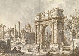 Canaletto | Capriccio with a Roman Triumphal Arch | Giclée Paper Print