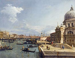 Canaletto | Entrance to the Grand Canal and Santa Maria della Salute, c.1735/40 | Giclée Canvas Print