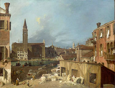 The Stonemason's Yard, c.1725/26 | Canaletto | Painting Reproduction
