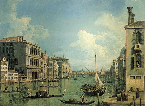 Grand Canal Near the Campo San Vio, c.1730 | Canaletto | Giclée Canvas Print