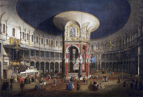 Ranelagh Gardens, the Interior of the Rotunda, c.1751   Canaletto   Painting Reproduction