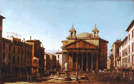 The Pantheon, c.1720 | Canaletto | Painting Reproduction