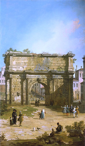 Rome: The Arch of Septimus Severus, 1742   Canaletto   Painting Reproduction