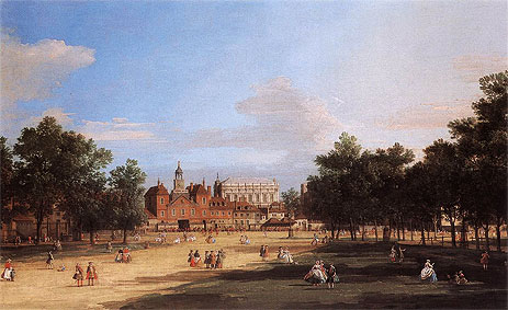 London: the Old Horse Guards and Banqueting Hall from St James's Park, 1749 | Canaletto | Painting Reproduction