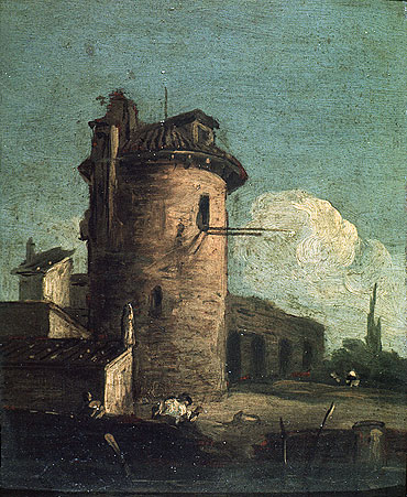 View with Ruins, undated   Canaletto   Painting Reproduction