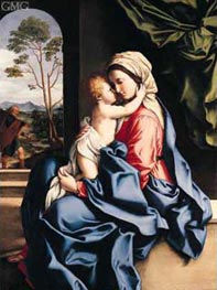 Sassoferrato | The Virgin and Child Embracing, c.1660/85 | Giclée Canvas Print