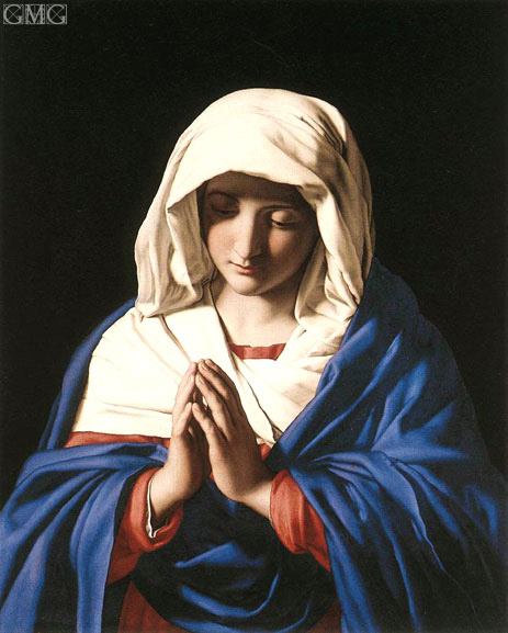The Virgin in Prayer, c.1640/50 | Sassoferrato | Painting Reproduction