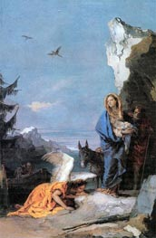 Tiepolo | Flight into Egypt | Giclée Canvas Print