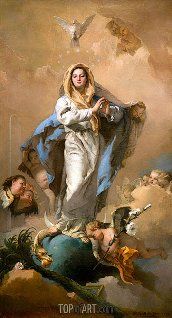 The Immaculate Conception, c.1767/69 | Tiepolo | Giclée Canvas Print