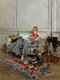 Giovanni Boldini | Young Woman Crocheting | Giclée Canvas Print