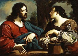 Guercino | Christ and the Woman of Samaria, c.1620 | Giclée Canvas Print