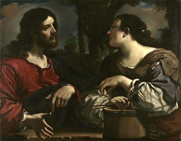 Christ and the Woman of Samaria, c.1619/20 | Guercino | Giclée Canvas Print