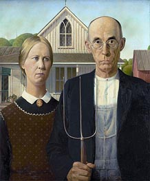 Grant Wood | American Gothic, 1930 | Giclée Canvas Print