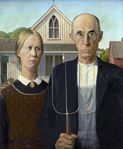 American Gothic, 1930 | Grant Wood | Painting Reproduction