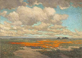 Granville Redmond | A Field of California Poppies | Giclée Canvas Print