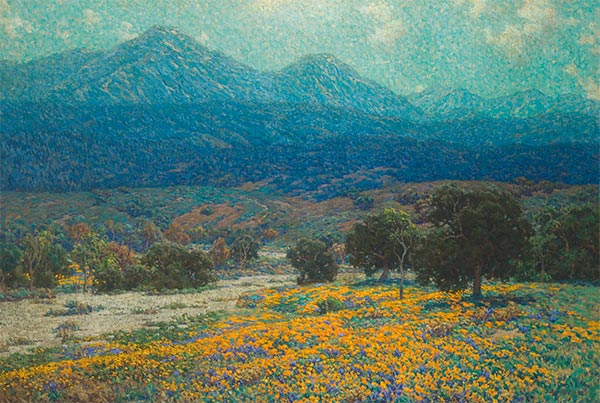 California Poppy Field, c.1926 | Granville Redmond | Giclée Canvas Print