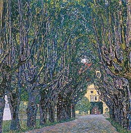 Klimt | Avenue in Schloss Kammer Park | Giclée Canvas Print
