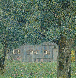 Klimt | Farmhouse in Upper Austria | Giclée Canvas Print