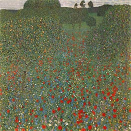 Klimt | Poppy Field | Giclée Canvas Print