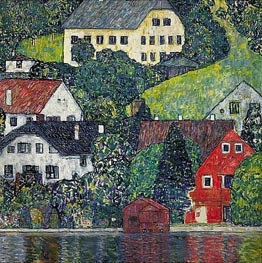 Klimt | Houses at Unterach on the Attersee | Giclée Canvas Print