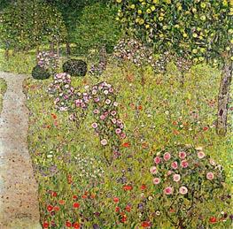 Klimt | Orchard with Roses | Giclée Canvas Print