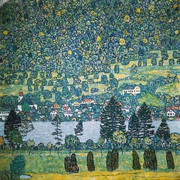 Klimt | Forest Slope in Unterach on the Attersee | Giclée Canvas Print