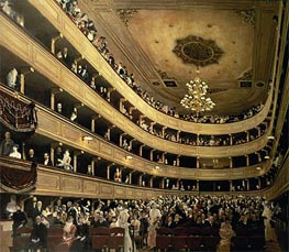Klimt | The Auditorium of the Old Castle Theatre | Giclée Canvas Print
