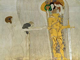 Klimt | Desire of Happiness (The Beethoven Frieze) | Giclée Paper Print