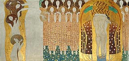 Klimt | Choir of Angels (The Beethoven Frieze) | Giclée Canvas Print