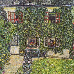 Klimt | Forester's House in Weissenbach on the Attersee | Giclée Canvas Print