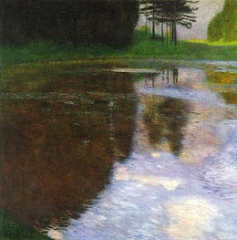 Klimt | A Morning by the Pond | Giclée Canvas Print