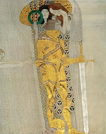 Klimt | The Knight in Shining Armor (The Beethoven Frieze), 1902 | Giclée Canvas Print