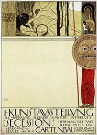 Klimt | Poster for the first art exhibition of the Secession Art Movement, 1898 | Giclée Paper Print