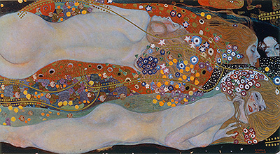Water Serpents II, c.1904/07 | Klimt | Giclée Canvas Print