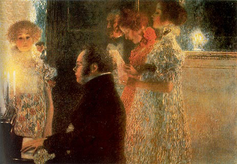 Schubert at the Piano, 1899 | Klimt | Giclée Canvas Print