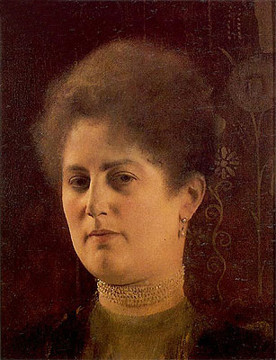 Klimt | Portrait of a Lady (Frau Haymann), c.1894 | Giclée Canvas Print