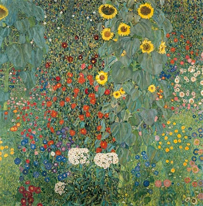 Farm Garden with Sunflowers, c.1905/06 | Klimt | Painting Reproduction
