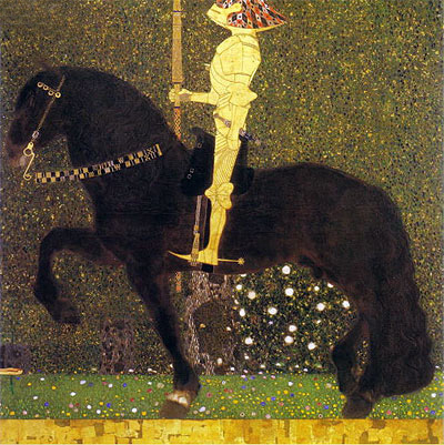 The Golden Knight (Life is a Struggle), 1903 | Klimt | Giclée Canvas Print
