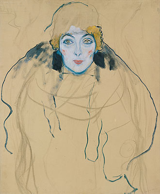 Klimt | Head of a Woman, 1917 | Giclée Canvas Print