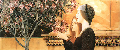 Two Girls With An Oleander, 1892 | Klimt | Painting Reproduction