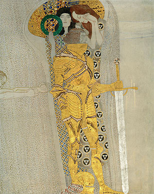 The Knight in Shining Armor (The Beethoven Frieze), 1902 | Klimt | Painting Reproduction