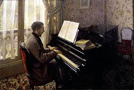 Caillebotte   Young Man Playing the Piano, 1876   Giclée Canvas Print