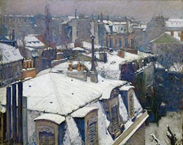 Caillebotte   View of Roofs (Snow Effect), 1878   Giclée Canvas Print