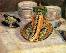 Caillebotte   Still Life with Crayfish, c.1880/82   Giclée Canvas Print