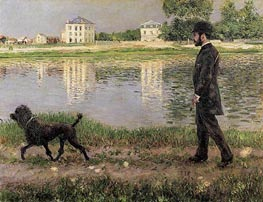 Caillebotte | Richard Gallo and His Dog, at Petit Gennevilliers, 1884 | Giclée Canvas Print