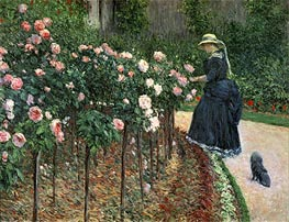 Caillebotte | Roses in the Garden at Petit Gennevilliers, 1886 | Giclée Canvas Print