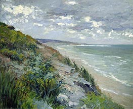 Caillebotte | Cliffs by the Sea at Trouville, undated | Giclée Canvas Print