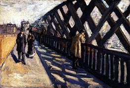 Caillebotte | Study for Le Pont de l'Europe | Giclée Canvas Print