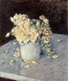 Caillebotte | Yellow Roses in a Vase | Giclée Canvas Print